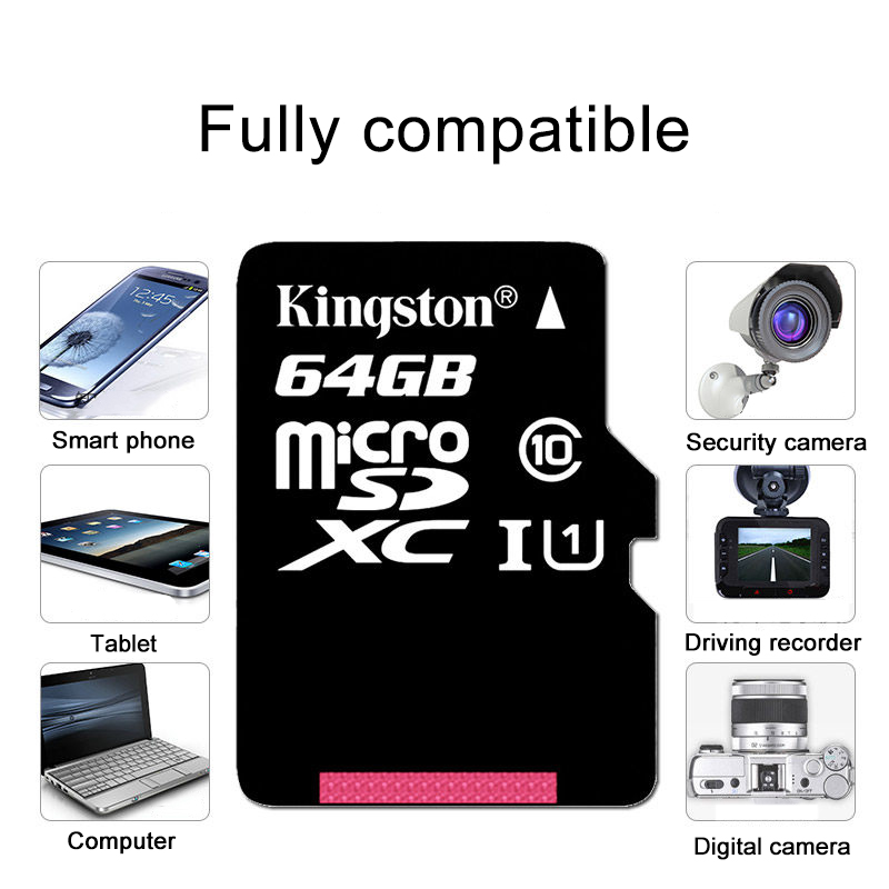 Image 5 - Kingston Micro SD Card 64GB 16GB 32GB 128GB microSD Memory Memory Card Class 10 UHS I flash card SD TF Card SDHC SDXC for Tablet-in Micro SD Cards from Computer & Office
