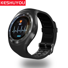 KESHUYOU T1S Sport smart watch blood pressure men children's watches relogio smartwatch Heart Rate monitor for android phone
