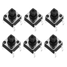 UXCELL 50PCS 6x6x7.3mm Panel Switches Momentary 4-Pin PCB DIP Tactile Tact Push Button Switch Electrical Equipment Supplies