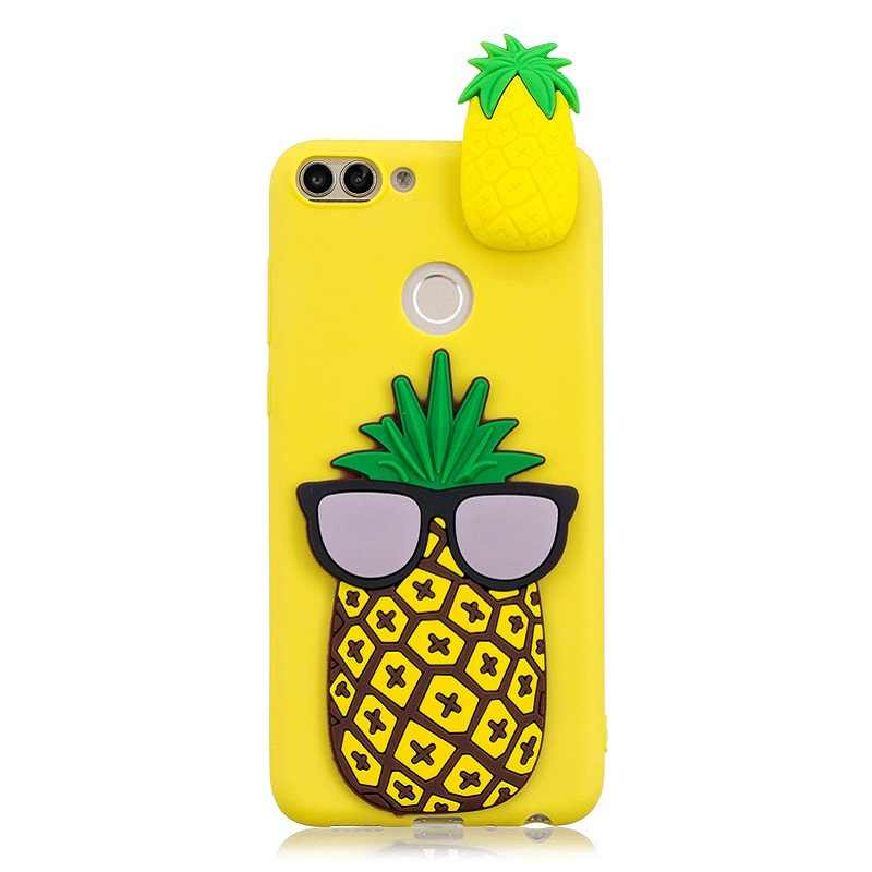Huawei P Smart Case on For Coque Huawei P Smart / Enjoy 7S Cover Fundas Cartoon 3D Doll Toys Candy Soft TPU Silicone Phone Cases