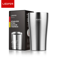 LEIDFOR Vacuum Flask Brand 500ml  Stainless Steel Women Thermoses Heat Resistant Thermos Coffee Mug Portable Water Bottle