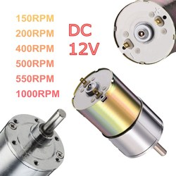 DC 12V 150/200/400/500/550/1000 RPM Powerful High Torque Electric Gear Box Motor Speed Reduction