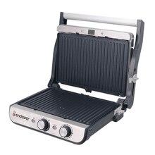 Гриль-пресс Endever Grillmaster 240 (Мощность 2100 Вт, терморегулятор (100-250 °C), таймер, внутреннее антипригарное покрытие, световой индикатор нагрева и готовности к работе, размеры рабочей поверхности 28х23,5 см)