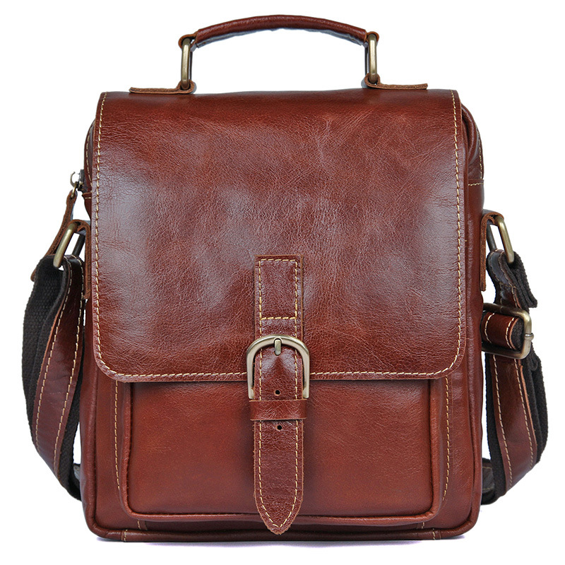 Genuine Leather Men Messenger Bag 2018 New Male Small Business Man Fashion Crossbody Shoulder Bags Men's Travel New Handbags