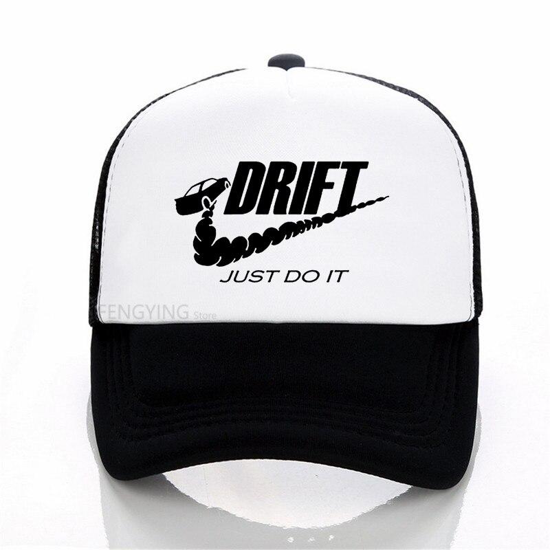 bd687750aa5 Summer Mesh Baseball Cap Men Fashion Doodle Print Men Car Drift Just ...