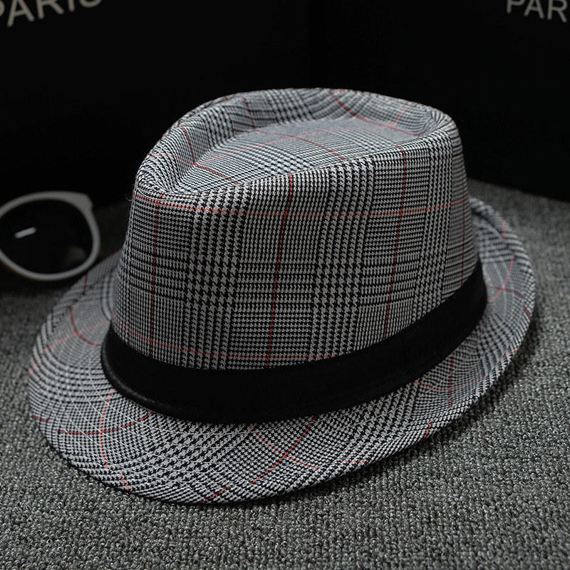 England Retro Top Jazz Plaid Hats 8