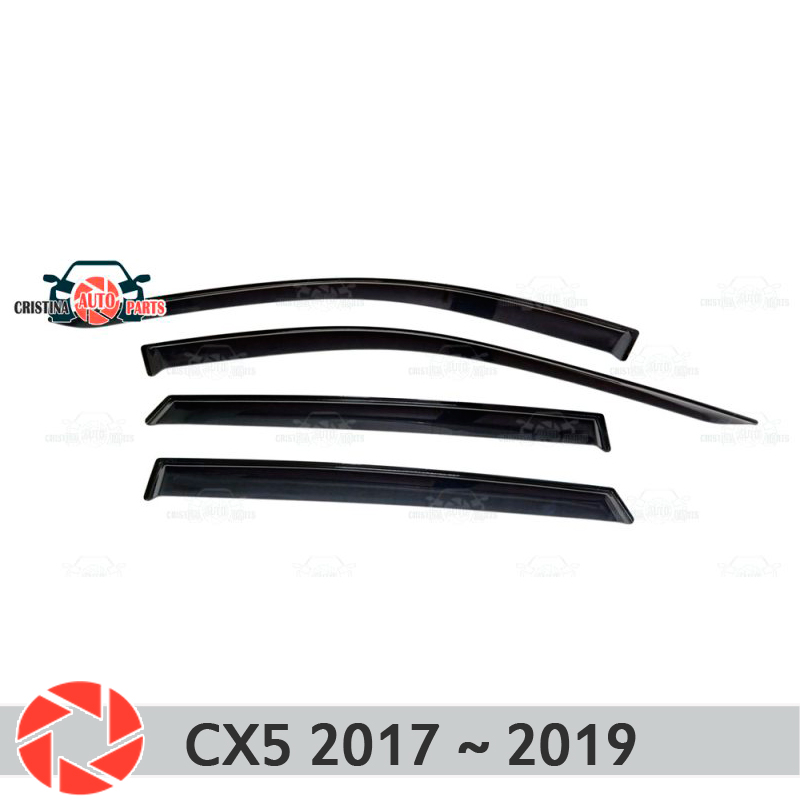 купить Window deflector for Mazda CX5 2017~ rain deflector dirt protection car styling decoration accessories molding по цене 1550 рублей