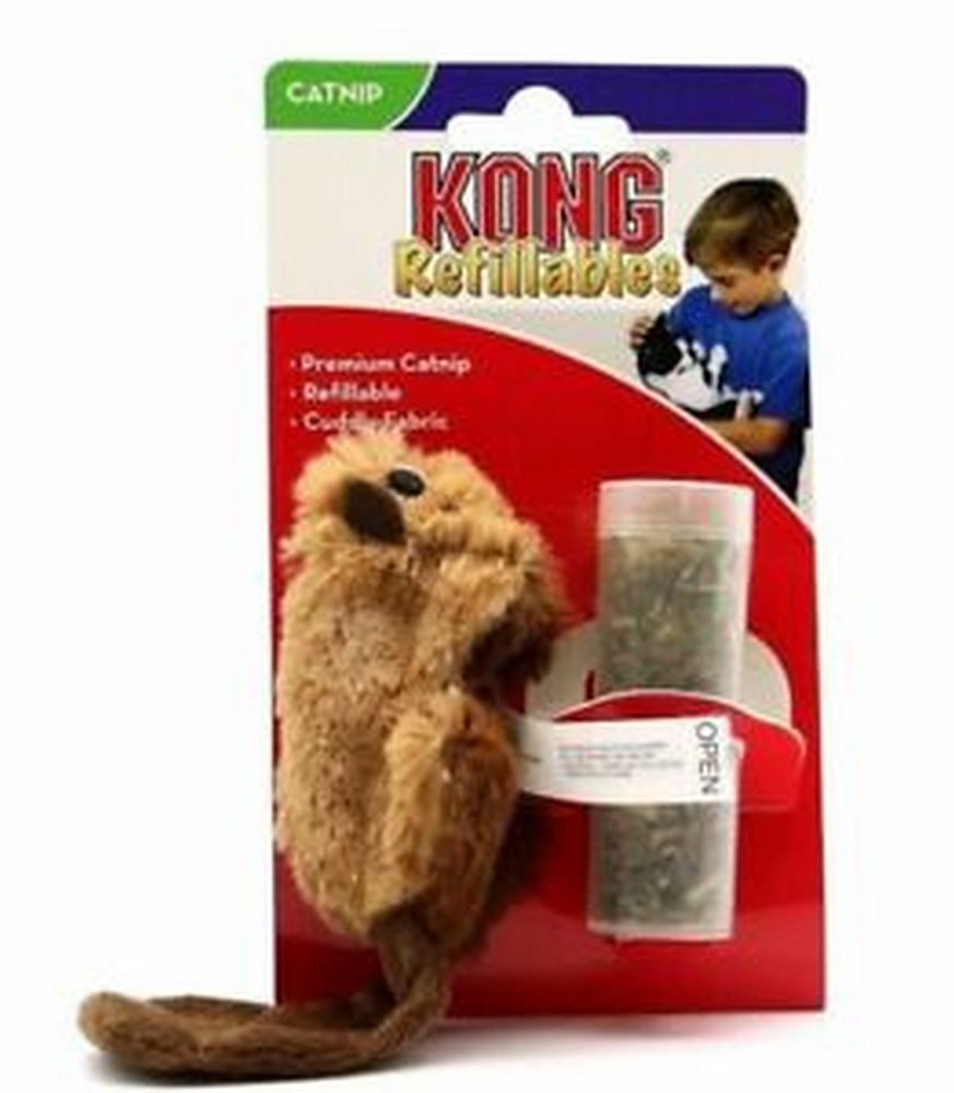 Cat toy KONG toy for cats Beaver 15 cm plush with catnip tub simulation cat plush toy talking toys slippers furnishing articles call animal super cute doll birthday gift lovely decoration