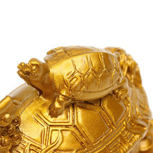 Feng Shui Dragon Turtle Tortoise Statue Figurine Coin Money Wealth Ornaments For Home Office