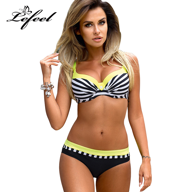 Lefeel Sexy Striped Bikinis 2018 Women Swimwear Low Waist Swimsuit Maillot Beach Wear Bandage Biquini Bathing Suits De Bain B734 оружие под патрон флобера спб