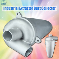 SN25T5 Aluminium Alloy Cyclone Dust Collector Filter Separator Collector Vacuums Cleaner Filter High Efficiency Duct Collector