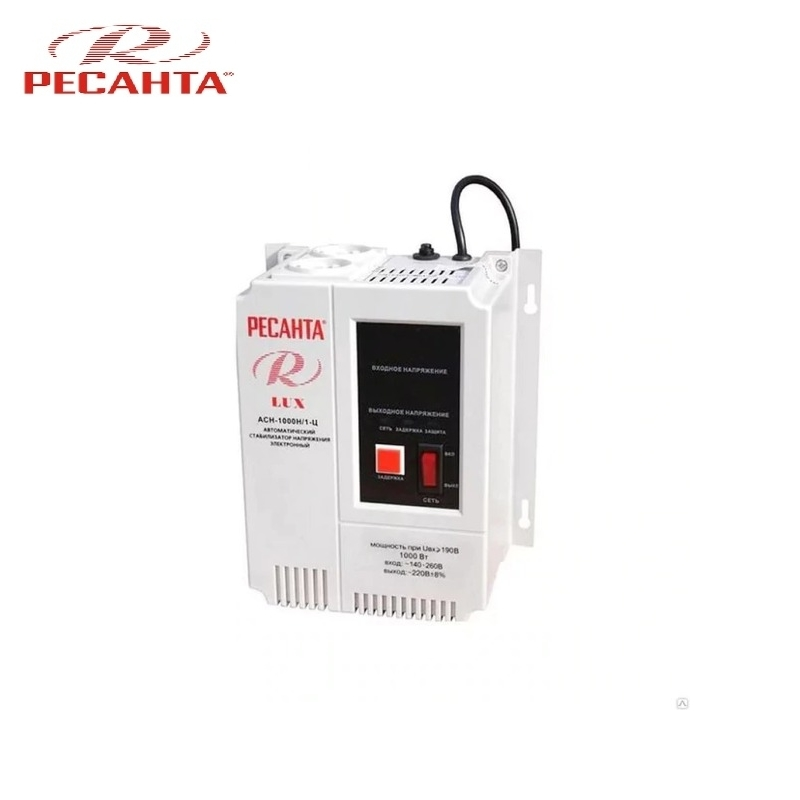 Single phase voltage stabilizer RESANTA ASN-1000N/1-C LUX Relay type Voltage regulator Monophase Mains stabilizer Surge protect voltage regulator resanta asn 12000 n1 c
