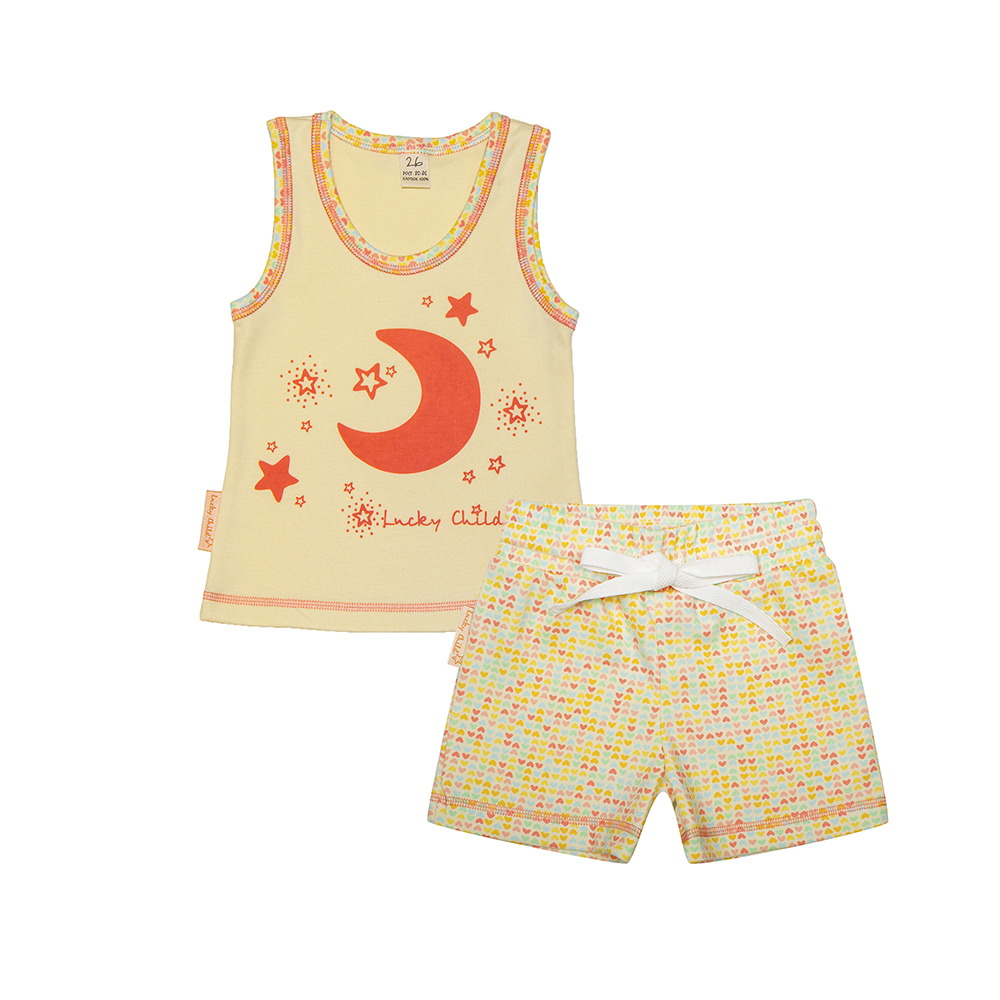 Pajama Sets Lucky Child for girls 12-410 (3T-8T) Children clothes kids clothes spring clothes new pattern girl korean trend fashion leisure time letter girl child cowboy 2 pieces kids clothing suits sets