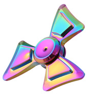 2017 New Stress Relief Toy Rainbow Fidget Spinner Metal Fan HandSpinner For Kids Adult Gifts