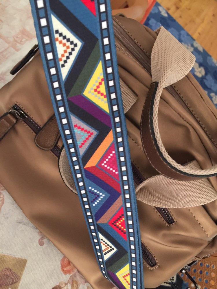 2019 New handbags strap plaid design national black buckle canvas bag straps new trendy easy holding shoulder straps qn213 photo review