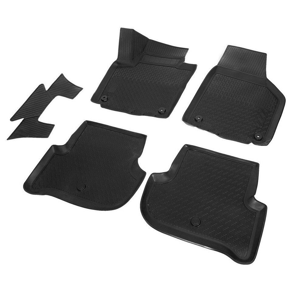 3D floor mats into saloon for Skoda Yeti 2009-2018 5 pcs/set (Rival 15103001) rubber floor mats into saloon for skoda rapid 2013 2019 5 pcs set rival 65102001