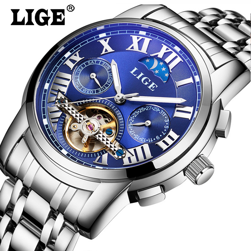 Watches Men Top Brand Luxury LIGE Tourbillon Automatic Mechanical Watch Mens Fashion Sport Wristwatch relogio masculino mens watches top brand luxury lige 2017 men watch sport tourbillon automatic mechanical leather wristwatch relogio masculino