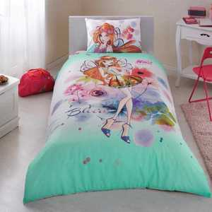 Single Twin Kids Girls Original WINX BLOOM 100 % Cotton Duvet Cover Bed Set 3Pcs()