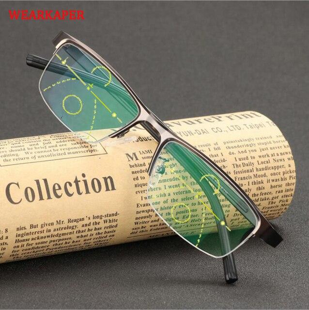 c194f8eb68 Gafas de lectura progresiva WEARKAPER para hombre y mujer, gafas  multifocales, Diopters graduales 1, 0 4,