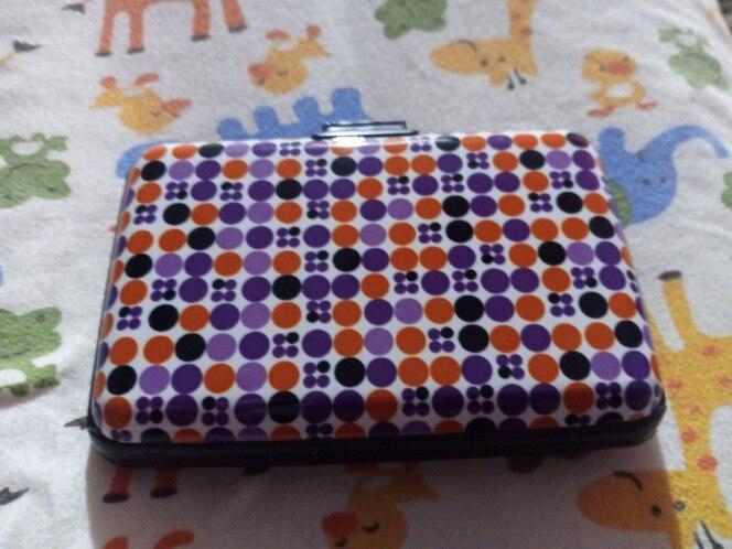 1Pcs Aluminium Flower Printing Card Case Bescherming Zak Business ID Creditcardhouder Portemonnee Waterdichte Case Box photo review