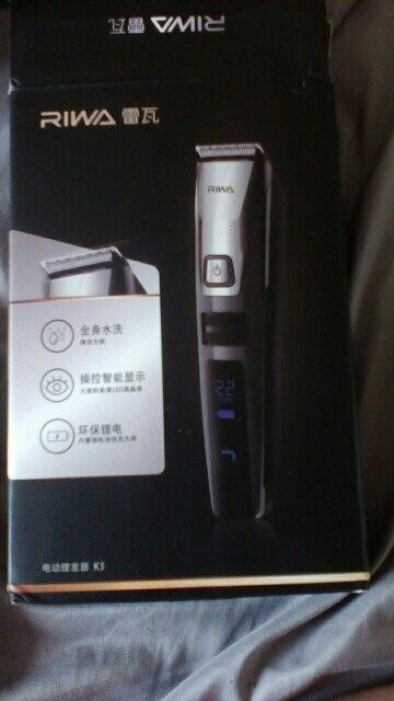 Riwa водонепроницаемый триммер волос жк-дисплей мужская машинки для стрижки волос аккумуляторная один кусок biuld гребень дизайн k3