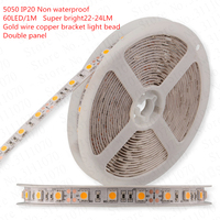 สดใสซุปเปอร์5050นำแถบDC12Vที่มีความยืดหยุ่นLEDไฟLED
