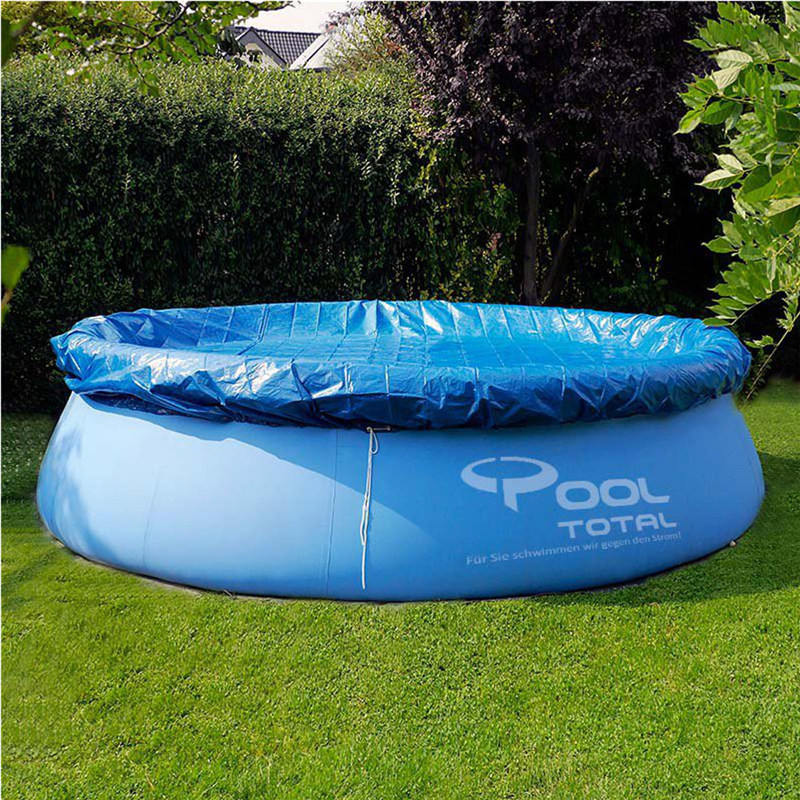 Blue Round Inflatable Pool Swimming Pool Cover Roller Fit 8/10/12 ...