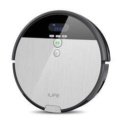 ILIFE V8s-Robot Vacuums, Color Plated and Grey, Floor Sweeping and scrub with water Tank, 5 modes Cleaning