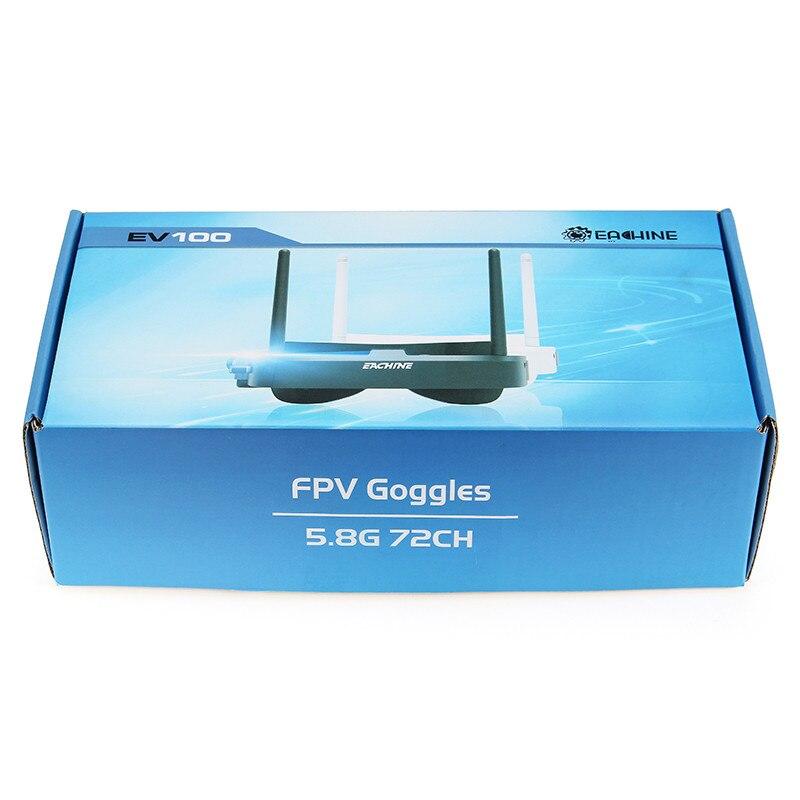 Eachine EV100 720*540 5.8G 72CH FPV lunettes avec double antennes ventilateur 7.4 V 1000 mAh batterie - 6