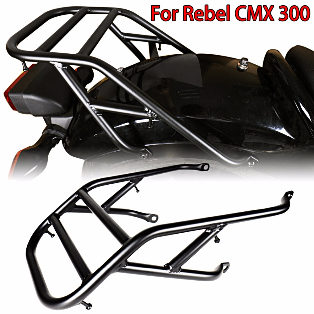 Black Rear Fender Luggage Rack For 2017-2018 Rebel CMX 300 Models