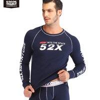 52025 Thickened Men Thermal Underwear Mens Sportswear Thick Warm Fleece lined Cotton Thermal Underwear Winter Long Johns