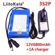 شاحن LiitoKala ببطارية ليثيوم أيونات قابلة لإعادة الشحن بقدرة تيار مستمر 12 فولت 18650 مللي أمبير في الساعة كاميرا مراقبة CCTV شاحن 6800 فولت 1 أمبير