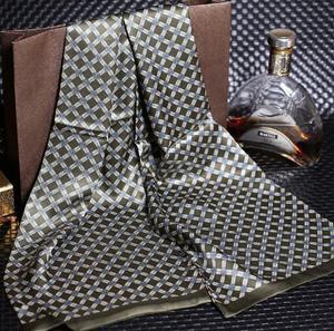 Image 3 - 送料無料メンズロングプリントデザイン100% 純粋な絹のスカーフネックスカーフ