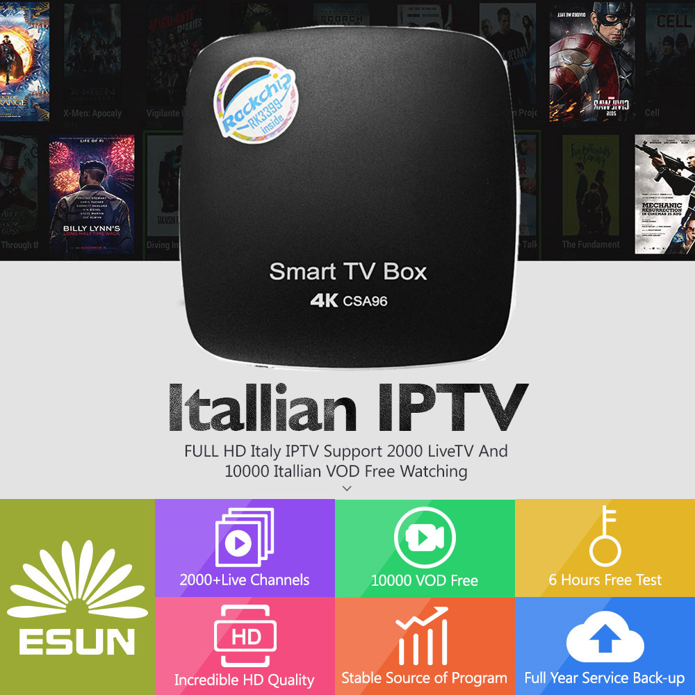 Italy IPTV CSA96+ Android 7.1 IPTV BOX 4/32G Dual Cortex-A72 Italy IPTV EPG 4000+Live+VOD configured Europe Albania ex-yu XXX t95n ott iptv box with 1 year italy iptvbox 1g 8g italy iptv epg 4000 live vod configured europe albania ex yu xxx channels
