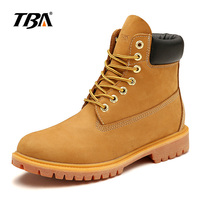 TBA 5939 winter leather boots Yellow high quality men and women warm shoes boots