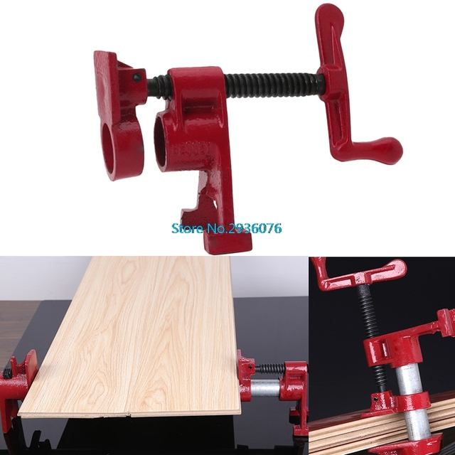 3 4 Inch Wood Gluing Pipe Clamp Set Heavy Duty Profesional