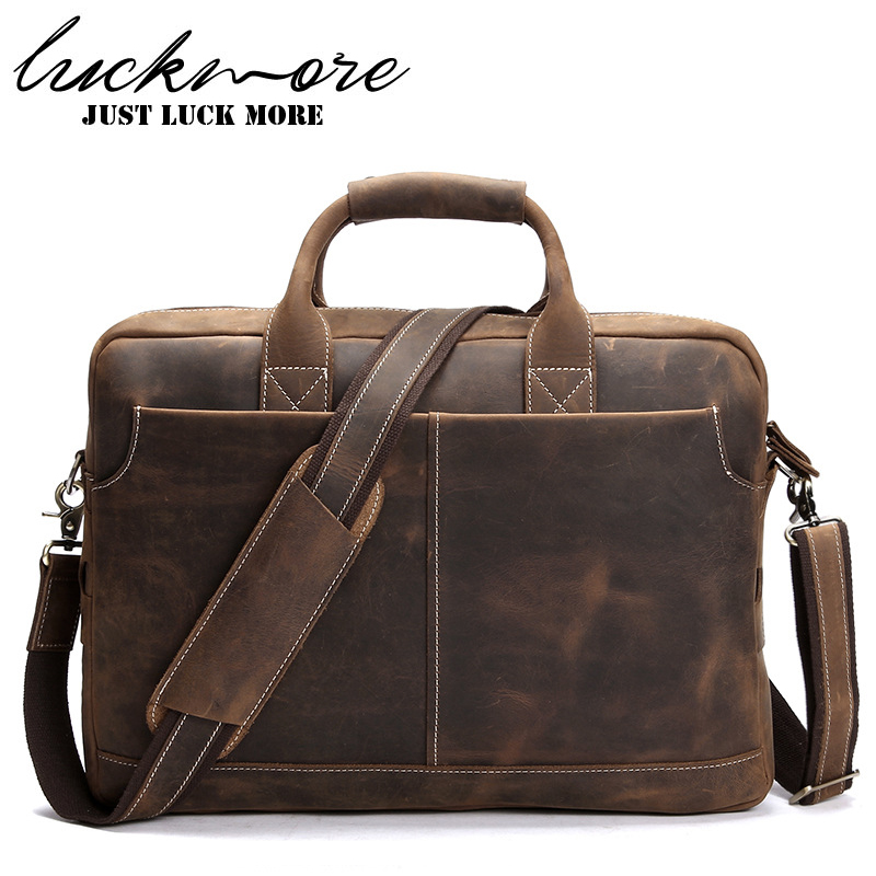 Vintage Genuine Leather Men Messenger Bags 2017 Fasion Designer Business Briefcase Man Shoulder Bag Handbags Mens Laptop Bags