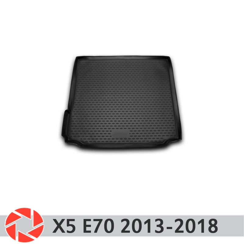 For BMW X5 F15 2013-2018 trunk mat trunk floor rugs non slip polyurethane dirt protection interior trunk car styling