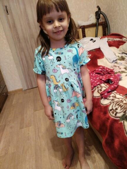 Vestidos Girls Summer Dress 2018 Brand Animal Unicorn Princess Dress Children Costume for Kids Clothes Flamingo Baby Dress 1-6T