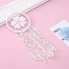 Buy flower dream catcher and get free shipping on aliexpress desertcreations white lace openwork flower wind chimes mightylinksfo