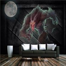 Retro board game werewolf kill KTV theme restaurant tooling background wall manufacturers wholesale wallpaper mural custom photo цены