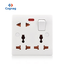 цена на Universal electric AC power socket wall  panel outlet wall charger bakelite switched 13A 220 250V single gang 8 pin on sale