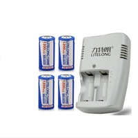 4pcs/lot Large capacity 3.7V 1200mAh ICR 16340 rechargeable lithium battery +1PCS 16340 lithium battery charger