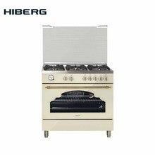 Плита газовая HIBERG шириной 90 см модель FGG 950-35 SY, газовый гриль,конвекция