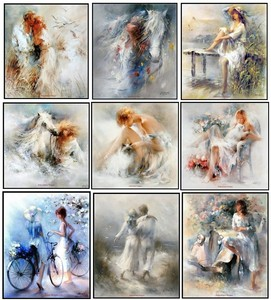 Image 1 - 자수 카운트 크로스 스티치 키트 바느질 공예품 14 ct 중형 diy 아트 수제 장식 흰색 꿈 컬렉션