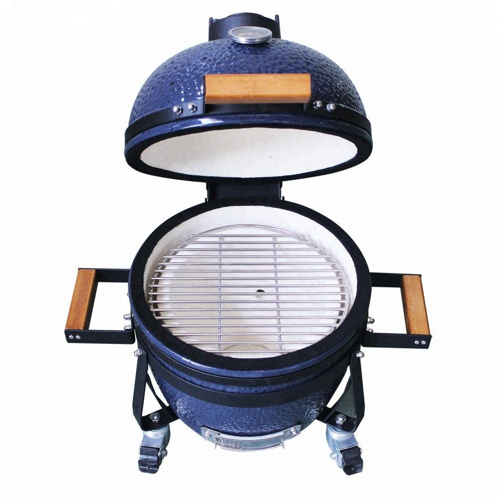 Barbacoa Ahumador de Ceramica Parrilla Fuego Carbon Madera temperatura B-STOCK