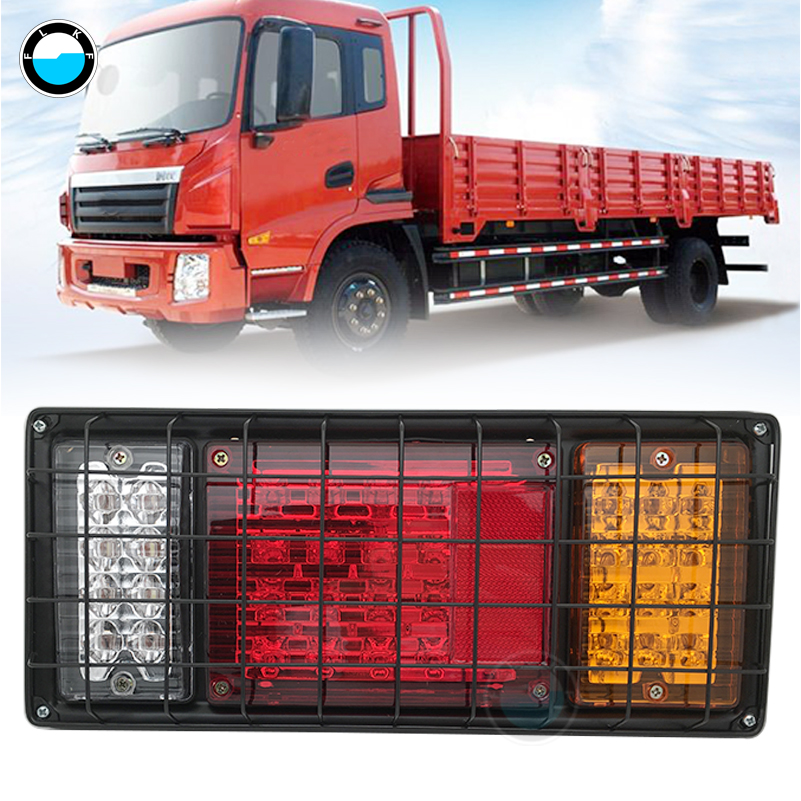 Водонепроницаемый светодиодный задний фонарь для грузовиков, 2 шт., 12 В, 24 дюйма, торможение, задний фонарь, поворотный, индикатор, вездеходный, задний фонарь s, лампа|Фара для авто в сборе|   | АлиЭкспресс