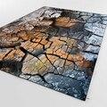 Else разбитая горная стена серая коричневая природа 3d печать Нескользящая микрофибра для гостиной декоративный современный моющийся коврик