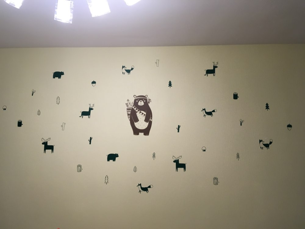 Uitstekend Stickers Babykamer : Moderne nordic stijl bos dieren stickers decals vinyl muurstickers