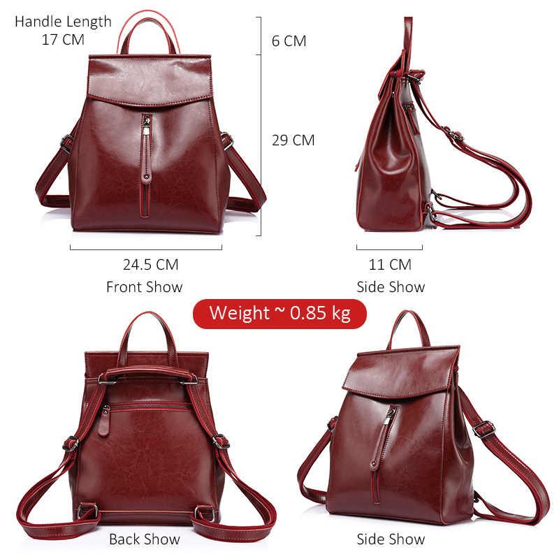 REALER рюкзак женский сплит-кожа, школьный рюкзак для девочек и подростков, рюкзак на плечо и через плечо для женщин с цепью и замкам